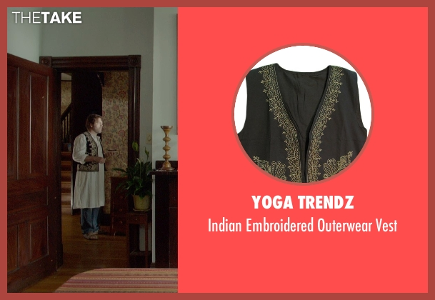 Yoga Trendz black vest from Me and Earl and the Dying Girl seen with Nick Offerman (Greg's Dad)