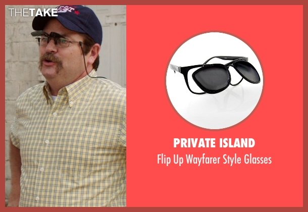 Private Island black glasses from We're the Millers seen with Nick Offerman (Don Fitzgerald)