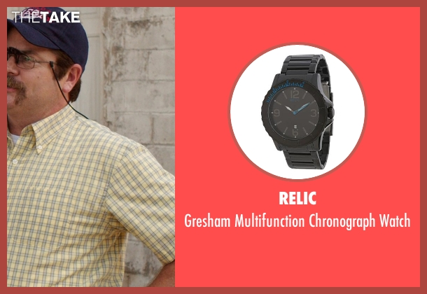 Relic black watch from We're the Millers seen with Nick Offerman (Don Fitzgerald)