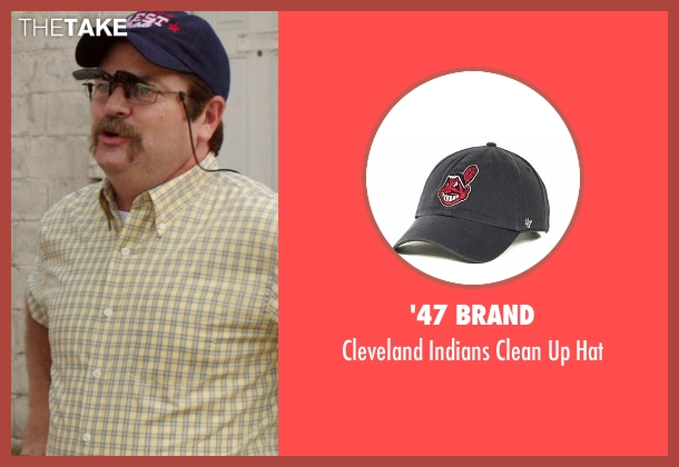 '47 Brand blue hat from We're the Millers seen with Nick Offerman (Don Fitzgerald)