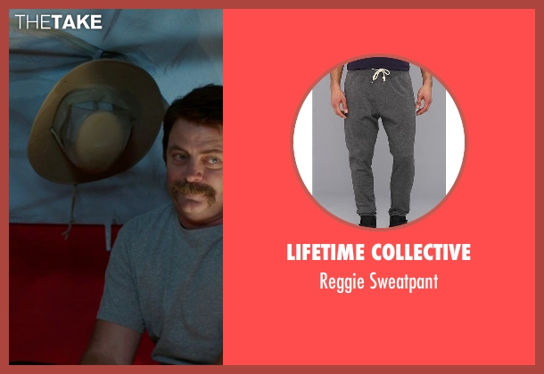 Lifetime Collective gray sweatpant from We're the Millers seen with Nick Offerman (Don Fitzgerald)