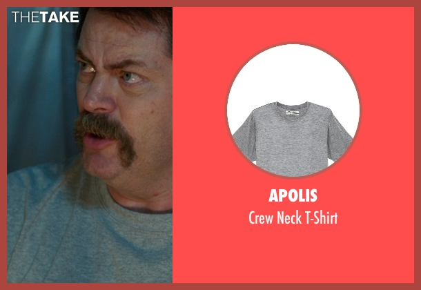 Apolis gray t-shirt from We're the Millers seen with Nick Offerman (Don Fitzgerald)