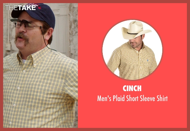 Cinch yellow shirt from We're the Millers seen with Nick Offerman (Don Fitzgerald)