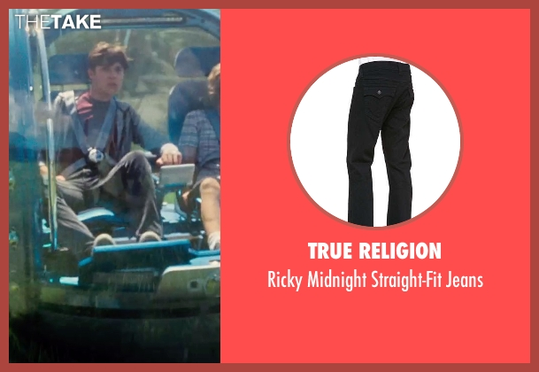 True Religion black jeans from Jurassic World seen with Nick Robinson (Zach)