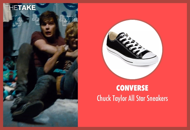 Converse black sneakers from Jurassic World seen with Nick Robinson (Zach)