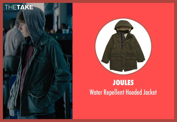 Alpha Industries green jacket from Jurassic World seen with Nick Robinson (Zach)