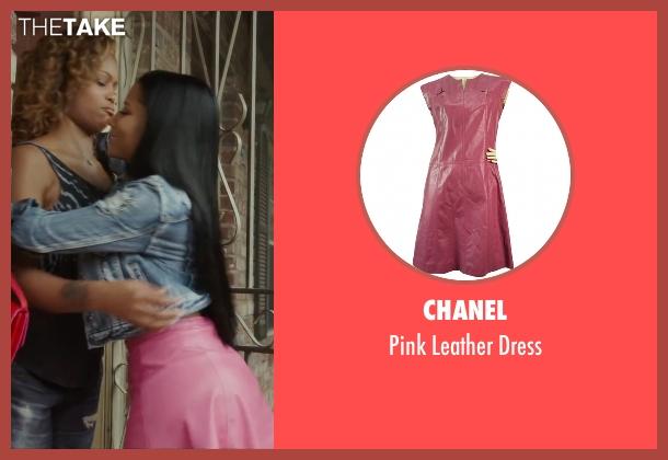 Chanel pink dress from Barbershop: The Next Cut seen with Nicki Minaj (Draya)
