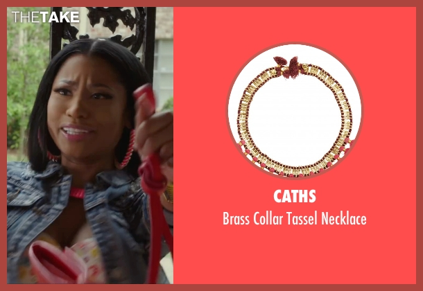 Caths pink necklace from Barbershop: The Next Cut seen with Nicki Minaj (Draya)