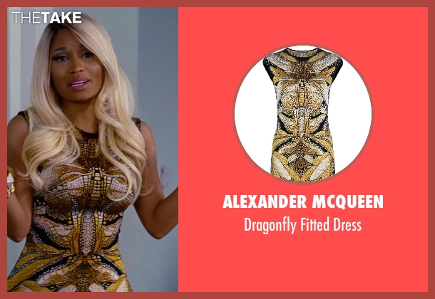 Alexander McQueen black dress from The Other Woman seen with Nicki Minaj (Lydia)