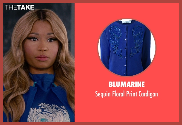 Blumarine blue cardigan from The Other Woman seen with Nicki Minaj (Lydia)
