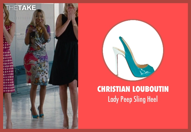 Christian Louboutin blue heel from The Other Woman seen with Nicki Minaj (Lydia)