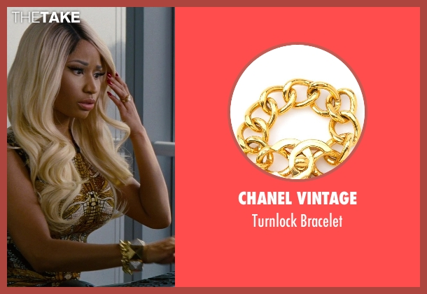 Chanel Vintage gold bracelet from The Other Woman seen with Nicki Minaj (Lydia)
