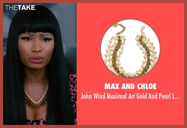 Max and Chloe gold necklace from The Other Woman seen with Nicki Minaj (Lydia)