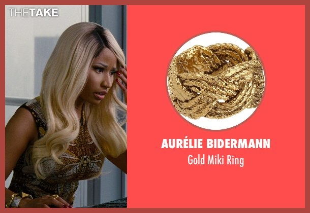 Aurélie Bidermann gold ring from The Other Woman seen with Nicki Minaj (Lydia)