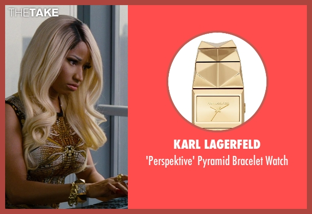 Karl Lagerfeld gold watch from The Other Woman seen with Nicki Minaj (Lydia)