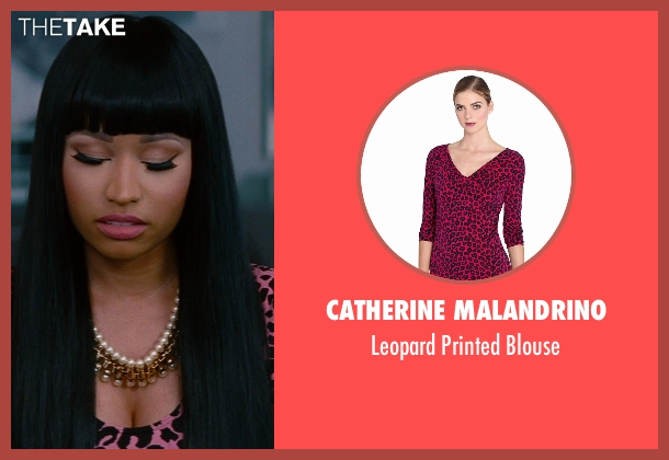 Catherine Malandrino pink blouse from The Other Woman seen with Nicki Minaj (Lydia)