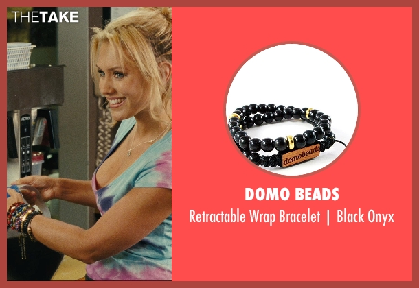 Domo Beads black onyx from Hall Pass seen with Nicky Whelan (Leigh)