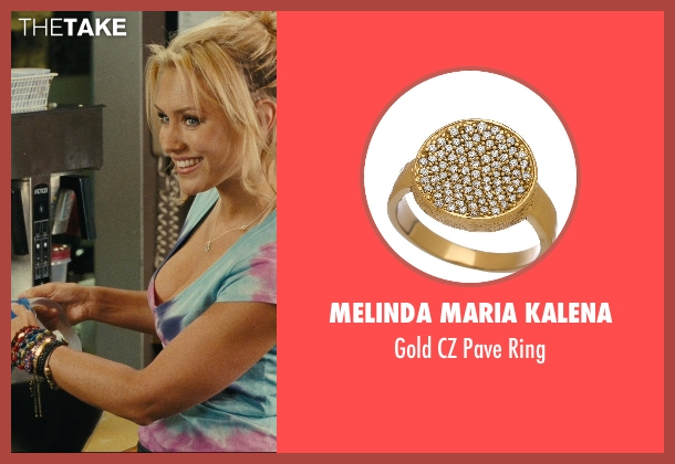 Melinda Maria Kalena gold ring from Hall Pass seen with Nicky Whelan (Leigh)