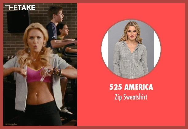 525 America gray sweatshirt from Hall Pass seen with Nicky Whelan (Leigh)