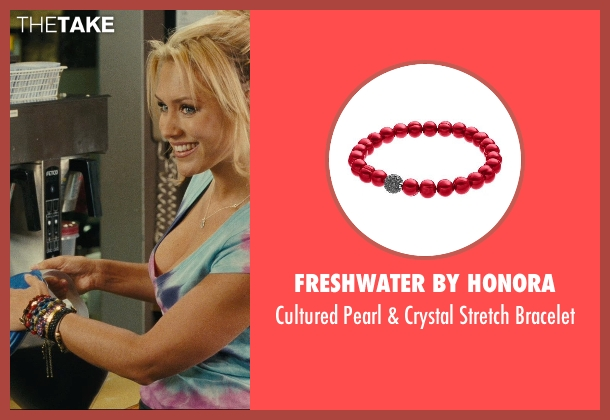 Freshwater by Honora red bracelet from Hall Pass seen with Nicky Whelan (Leigh)