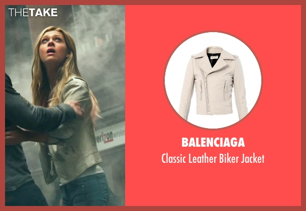 Balenciaga beige jacket from Transformers: Age of Extinction seen with Nicola Peltz (Tessa Yeager)