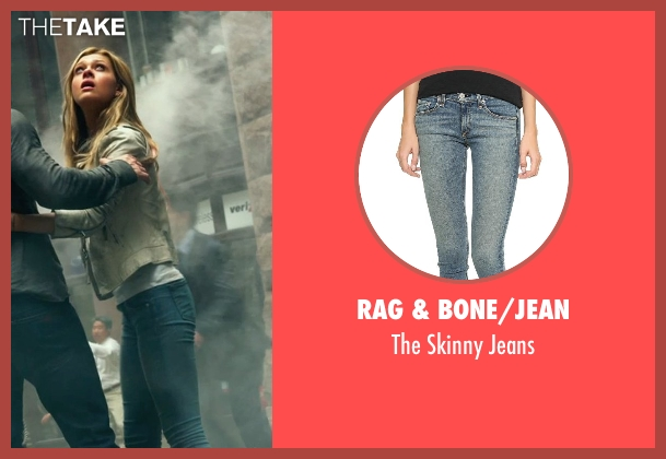 Rag & Bone/JEAN blue jeans from Transformers: Age of Extinction seen with Nicola Peltz (Tessa Yeager)