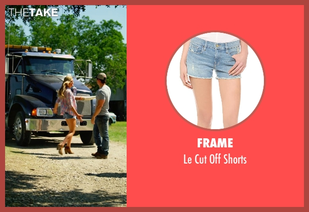 FRAME blue shorts from Transformers: Age of Extinction seen with Nicola Peltz (Tessa Yeager)