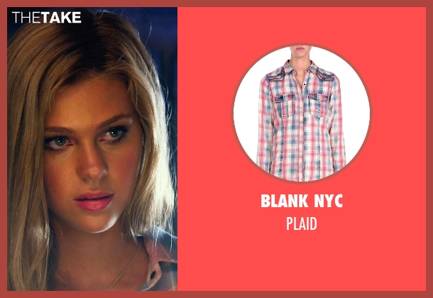BLANK NYC red plaid from Transformers: Age of Extinction seen with Nicola Peltz (Tessa Yeager)