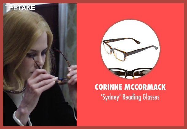 Corinne McCormack brown glasses from Secret in Their Eyes seen with Nicole Kidman (Claire)
