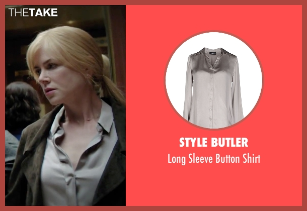 Style Butler gray shirt from Secret in Their Eyes seen with Nicole Kidman (Claire)
