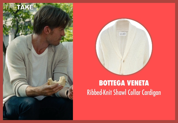 Bottega Veneta beige cardigan from The Other Woman seen with Nikolaj Coster-Waldau (Mark King)