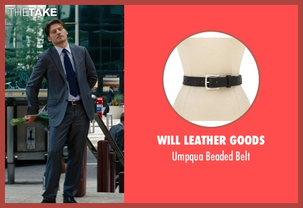 Will Leather Goods black belt from The Other Woman seen with Nikolaj Coster-Waldau (Mark King)