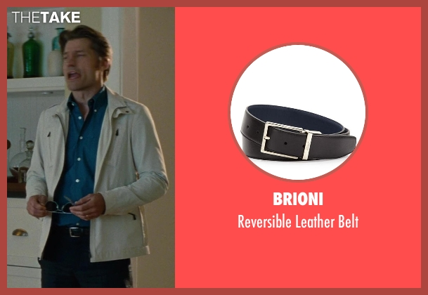 Brioni	 black belt from The Other Woman seen with Nikolaj Coster-Waldau (Mark King)