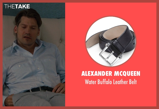 Alexander McQueen black belt from The Other Woman seen with Nikolaj Coster-Waldau (Mark King)