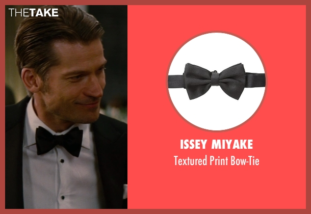 Issey Miyake black bow-tie from The Other Woman seen with Nikolaj Coster-Waldau (Mark King)