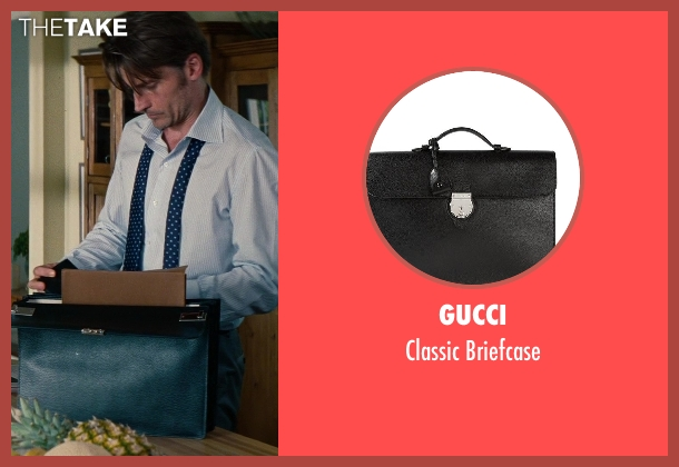 Gucci black briefcase from The Other Woman seen with Nikolaj Coster-Waldau (Mark King)