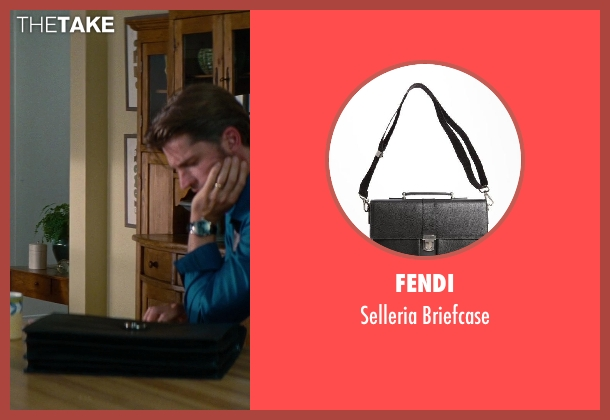 Fendi black briefcase from The Other Woman seen with Nikolaj Coster-Waldau (Mark King)