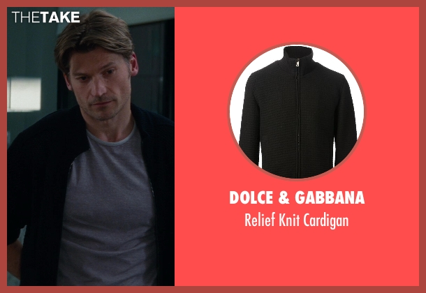 Dolce & Gabbana black cardigan from The Other Woman seen with Nikolaj Coster-Waldau (Mark King)