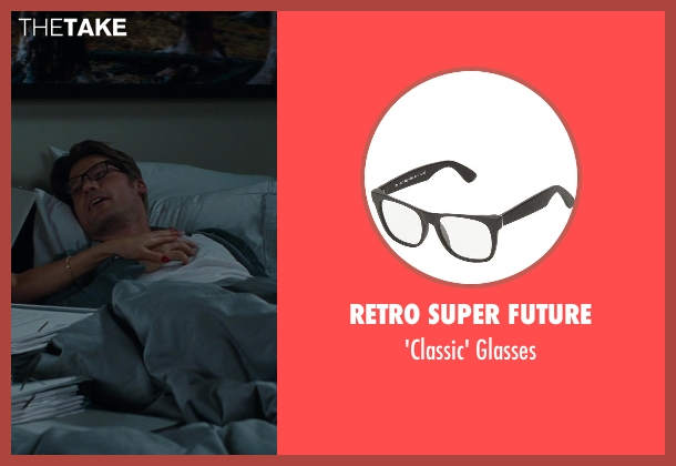 Retro Super Future black glasses from The Other Woman seen with Nikolaj Coster-Waldau (Mark King)