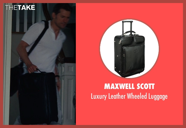 Maxwell Scott black luggage from The Other Woman seen with Nikolaj Coster-Waldau (Mark King)