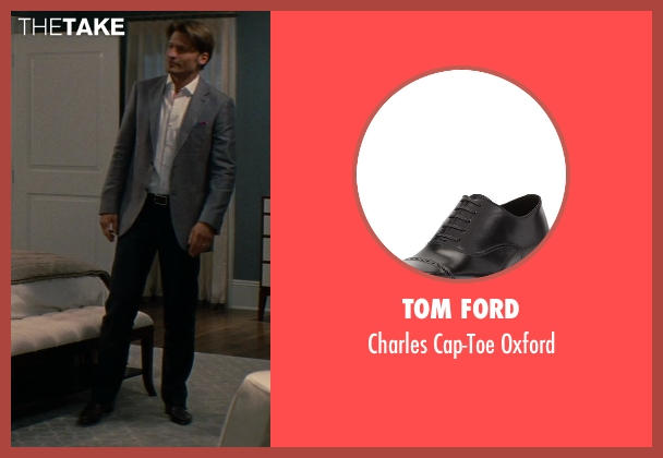 Tom Ford	 black oxford from The Other Woman seen with Nikolaj Coster-Waldau (Mark King)