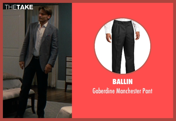 Ballin black pant from The Other Woman seen with Nikolaj Coster-Waldau (Mark King)