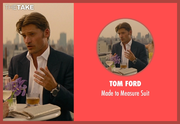 Tom Ford black suit from The Other Woman seen with Nikolaj Coster-Waldau (Mark King)