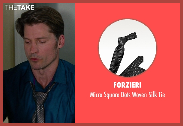Forzieri black tie from The Other Woman seen with Nikolaj Coster-Waldau (Mark King)