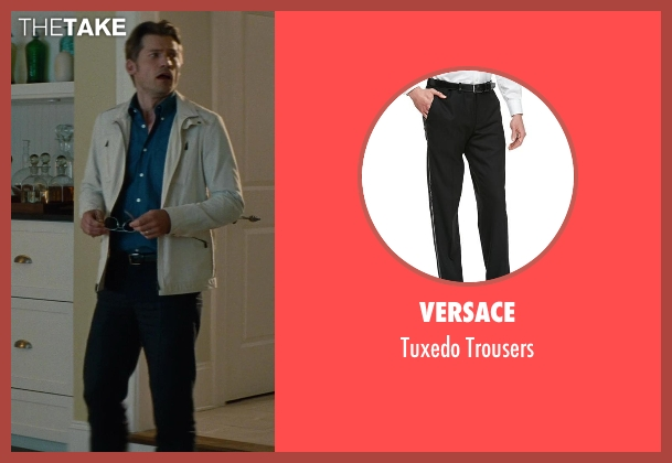 Versace	 black trousers from The Other Woman seen with Nikolaj Coster-Waldau (Mark King)