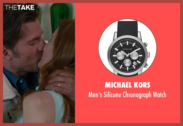 Michael Kors black watch from The Other Woman seen with Nikolaj Coster-Waldau (Mark King)