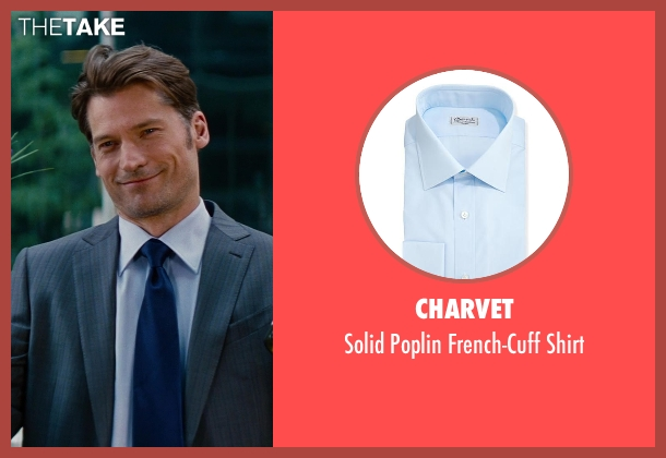Charvet	 blue shirt from The Other Woman seen with Nikolaj Coster-Waldau (Mark King)