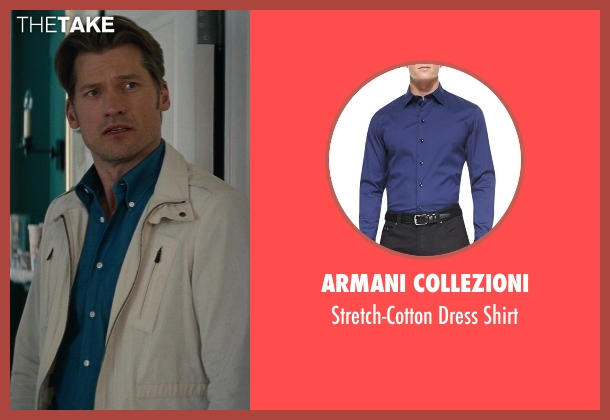 Armani Collezioni	 blue shirt from The Other Woman seen with Nikolaj Coster-Waldau (Mark King)