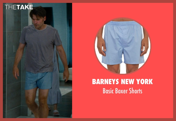 Barneys New York blue shorts from The Other Woman seen with Nikolaj Coster-Waldau (Mark King)