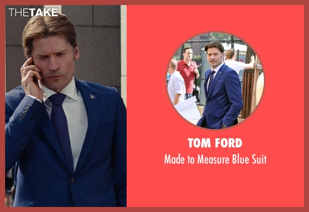 Tom Ford blue suit from The Other Woman seen with Nikolaj Coster-Waldau (Mark King)